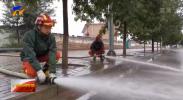 降雨导致海原县和原州区部分区域出现积水 消防现场排涝-20210904