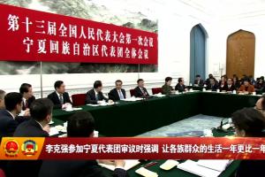 李克强参加宁夏代表团审议时强调 让各族群众的生活一年更比一年好